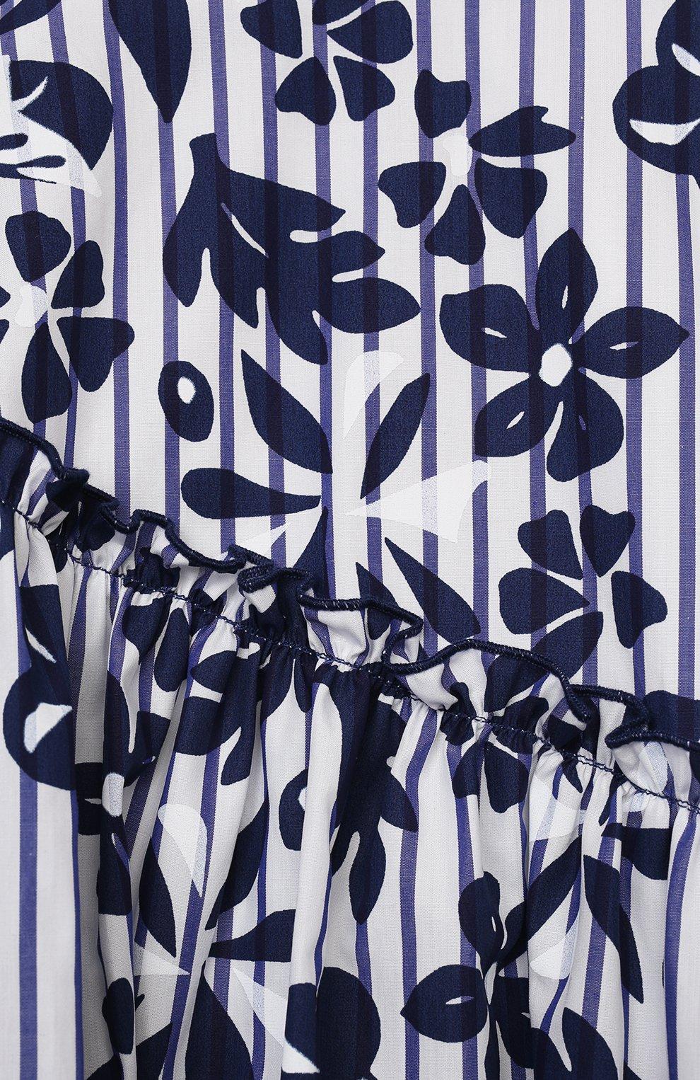 Детское хлопковое платье IL GUFO темно-синего цвета, арт. P21VM606C4070/2A-4A   Фото 3