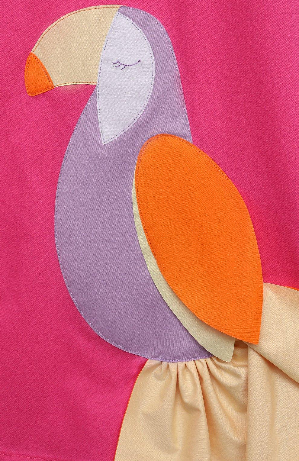 Детское хлопковое платье IL GUFO розового цвета, арт. P21VA274C0046/5A-8A | Фото 3