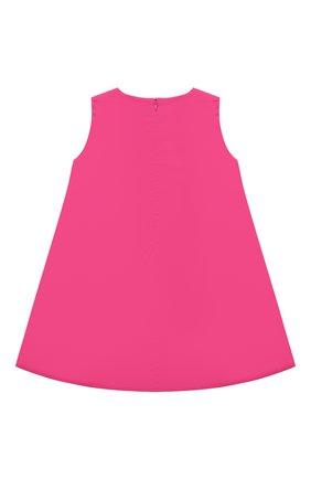 Детское хлопковое платье IL GUFO розового цвета, арт. P21VA274C0046/2A-4A   Фото 2 (Материал внешний: Хлопок; Рукава: Короткие; Материал подклада: Хлопок; Случай: Повседневный; Девочки Кросс-КТ: Платье-одежда; Ростовка одежда: 18 мес   86 см, 24 мес   92 см, 2 года   92 см, 3 года   98 см)