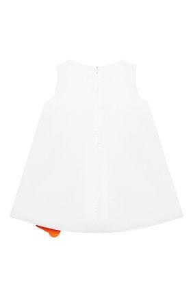 Детское хлопковое платье IL GUFO белого цвета, арт. P21VA274C0046/2A-4A | Фото 2