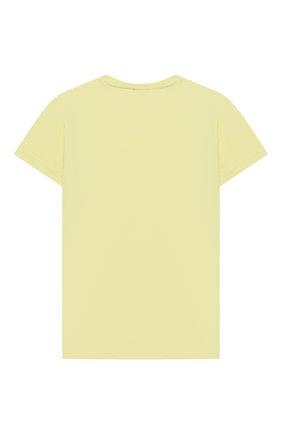 Детская хлопковая футболка IL GUFO желтого цвета, арт. P21TS313M0014/5A-8A   Фото 2