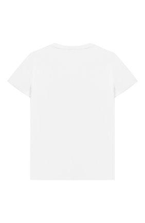 Детская хлопковая футболка IL GUFO белого цвета, арт. P21TS311M0014/5A-8A   Фото 2