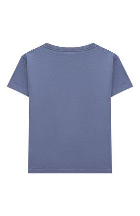 Детская хлопковая футболка IL GUFO голубого цвета, арт. P21TS288M0014/2A-4A   Фото 2