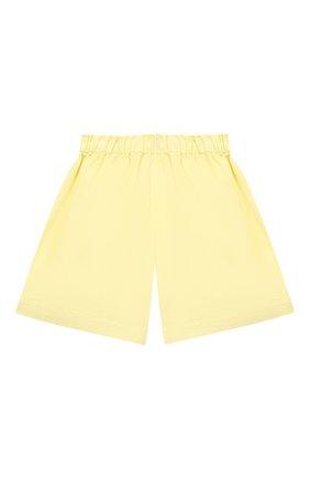 Детские хлопковые шорты IL GUFO желтого цвета, арт. P21PB148C6032/5A-8A   Фото 2 (Материал внешний: Хлопок; Девочки Кросс-КТ: Шорты-одежда; Ростовка одежда: 4 года   104 см, 5 лет   110 см, 7 лет   122 см)