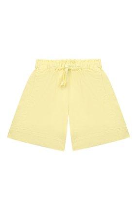 Детские хлопковые шорты IL GUFO желтого цвета, арт. P21PB148C6032/2A-4A | Фото 1
