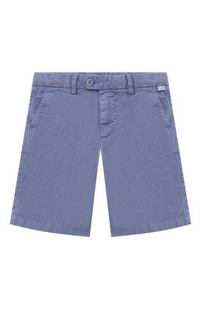 Детские хлопковые шорты IL GUFO голубого цвета, арт. P21PB146C6034/5A-8A | Фото 1 (Материал внешний: Хлопок; Мальчики Кросс-КТ: Шорты-одежда; Ростовка одежда: 4 года | 104 см, 5 лет | 110 см, 7 лет | 122 см)
