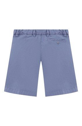 Детские хлопковые шорты IL GUFO голубого цвета, арт. P21PB146C6034/5A-8A | Фото 2 (Материал внешний: Хлопок; Мальчики Кросс-КТ: Шорты-одежда; Ростовка одежда: 4 года | 104 см, 5 лет | 110 см, 7 лет | 122 см)