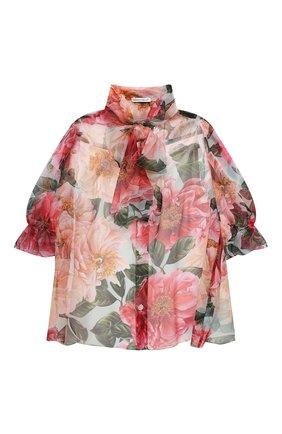 Детское шелковая блузка DOLCE & GABBANA разноцветного цвета, арт. L54S94/IS1FT/2-6 | Фото 1
