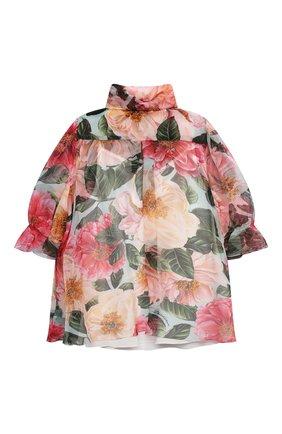 Детское шелковая блузка DOLCE & GABBANA разноцветного цвета, арт. L54S94/IS1FT/2-6 | Фото 2