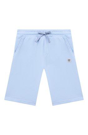 Детские хлопковые шорты DAL LAGO голубого цвета, арт. N533/9021/13-16   Фото 1