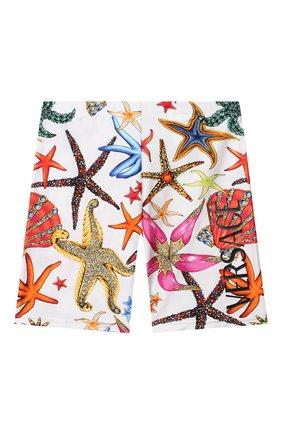 Детские шорты VERSACE разноцветного цвета, арт. 1000431/1A00413/8A-14A | Фото 1