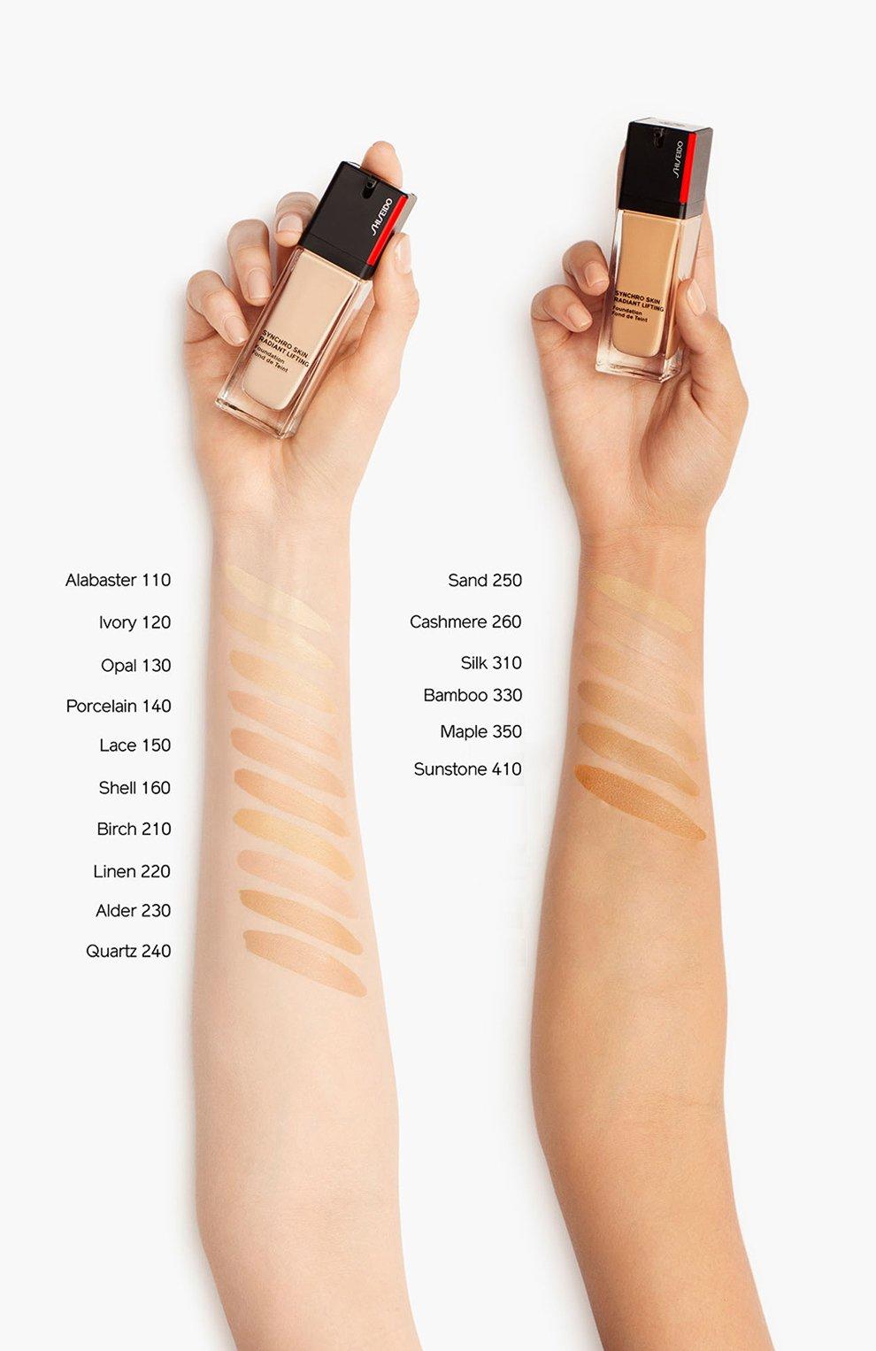 Тональное средство skin radiant lifting foundation spf 30, 160 shell SHISEIDO бесцветного цвета, арт. 16737SH   Фото 4