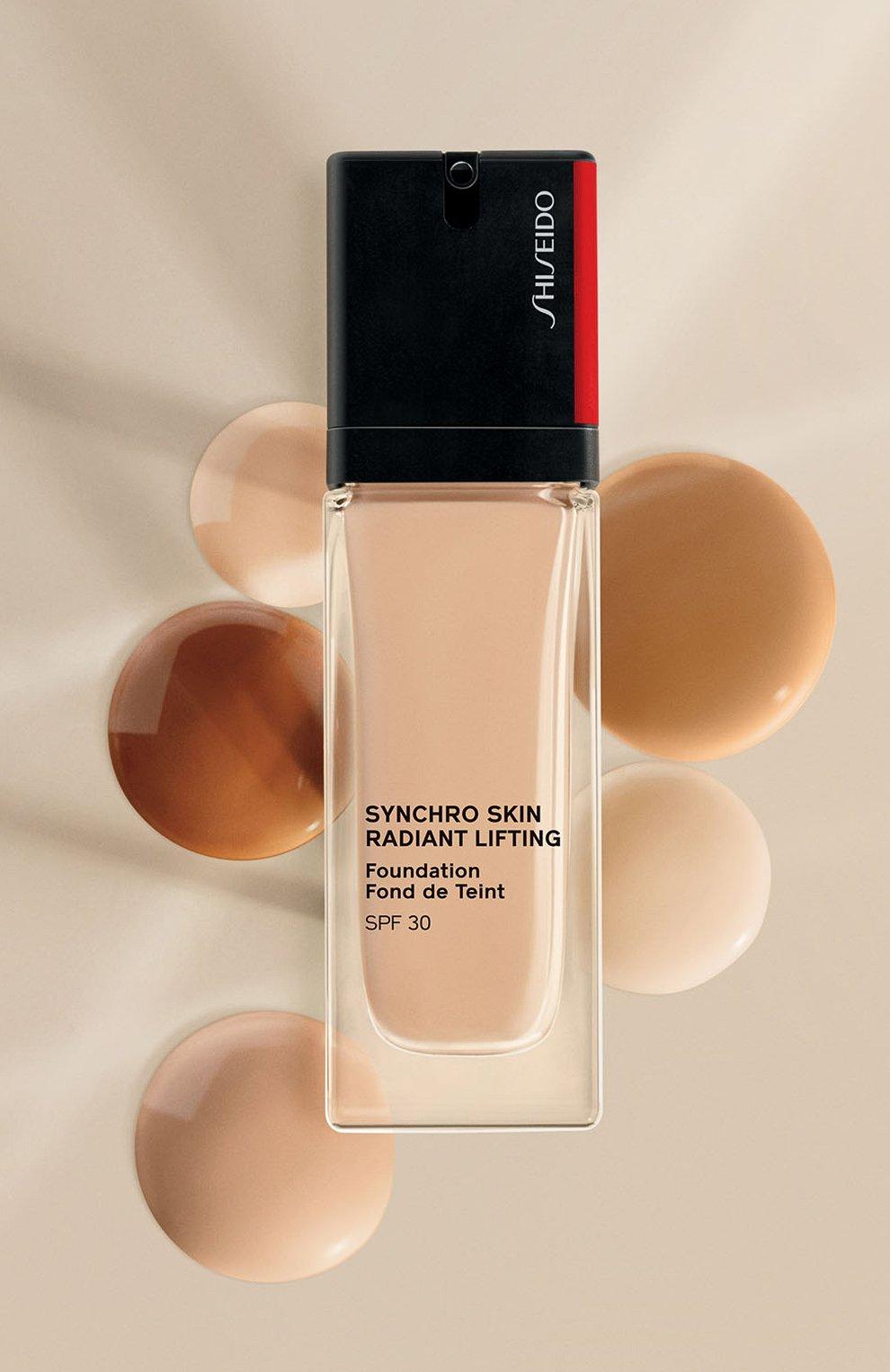 Тональное средство skin radiant lifting foundation spf 30, 160 shell SHISEIDO бесцветного цвета, арт. 16737SH   Фото 5