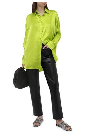 Женские кожаные шлепанцы BALENCIAGA черно-белого цвета, арт. 629537/WBBK2   Фото 2