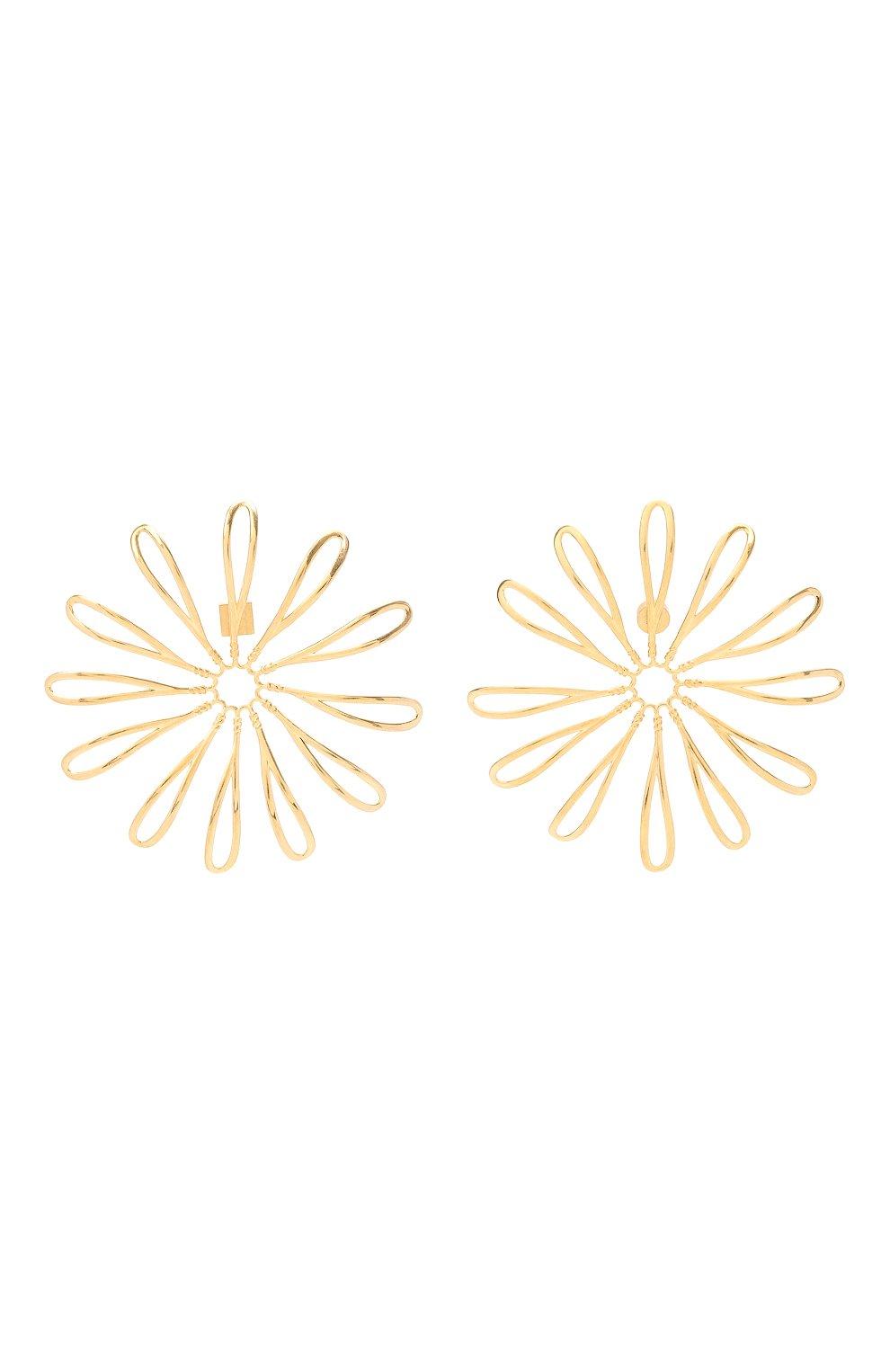 Женские серьги JACQUEMUS золотого цвета, арт. 211JW11 | Фото 1