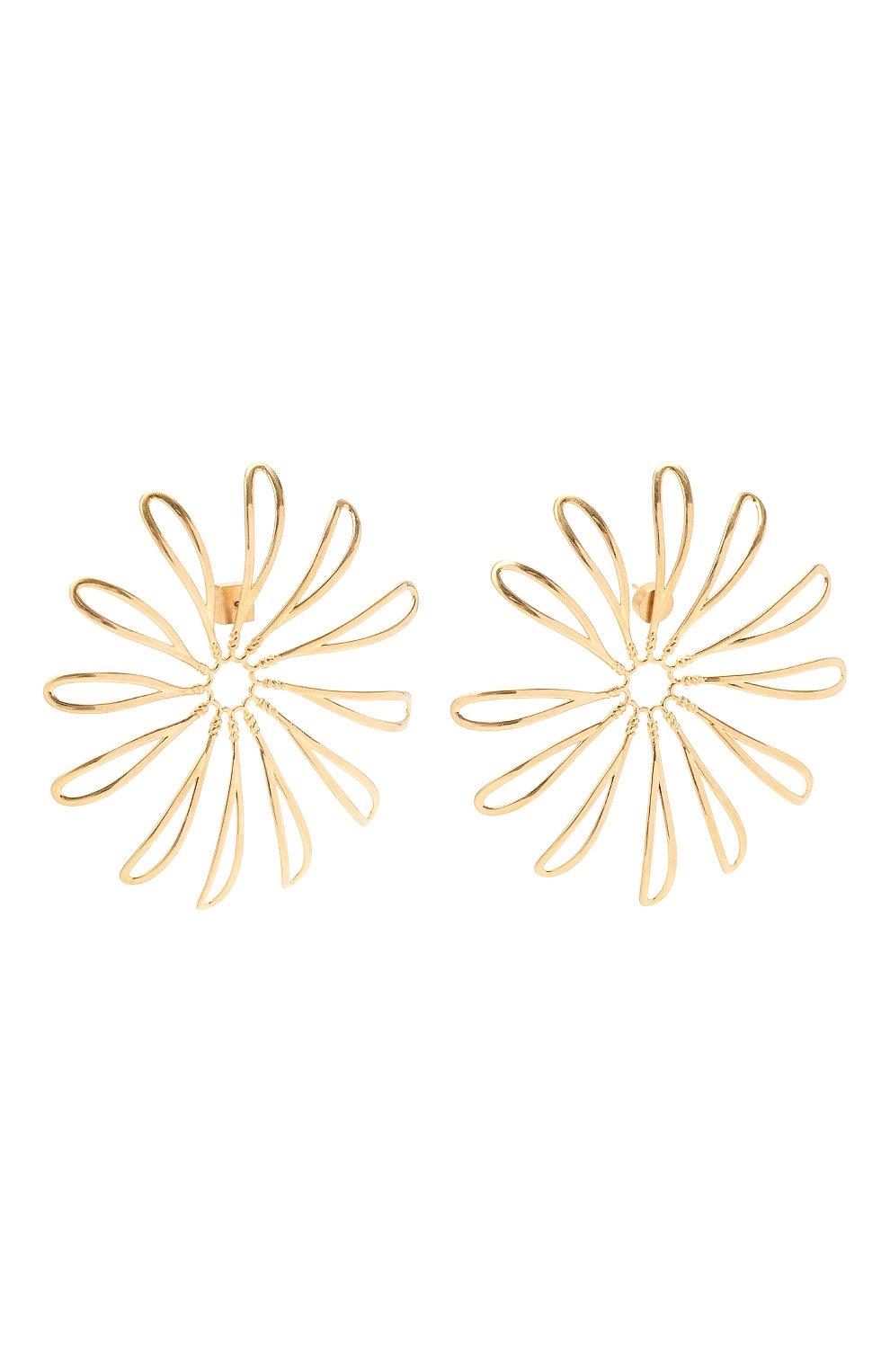 Женские серьги JACQUEMUS золотого цвета, арт. 211JW11 | Фото 2