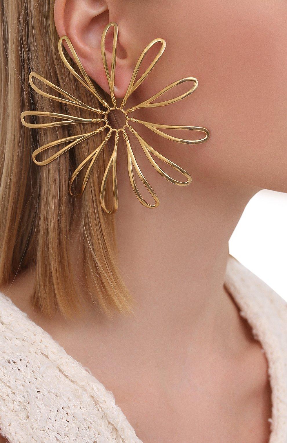 Женские серьги JACQUEMUS золотого цвета, арт. 211JW11 | Фото 3