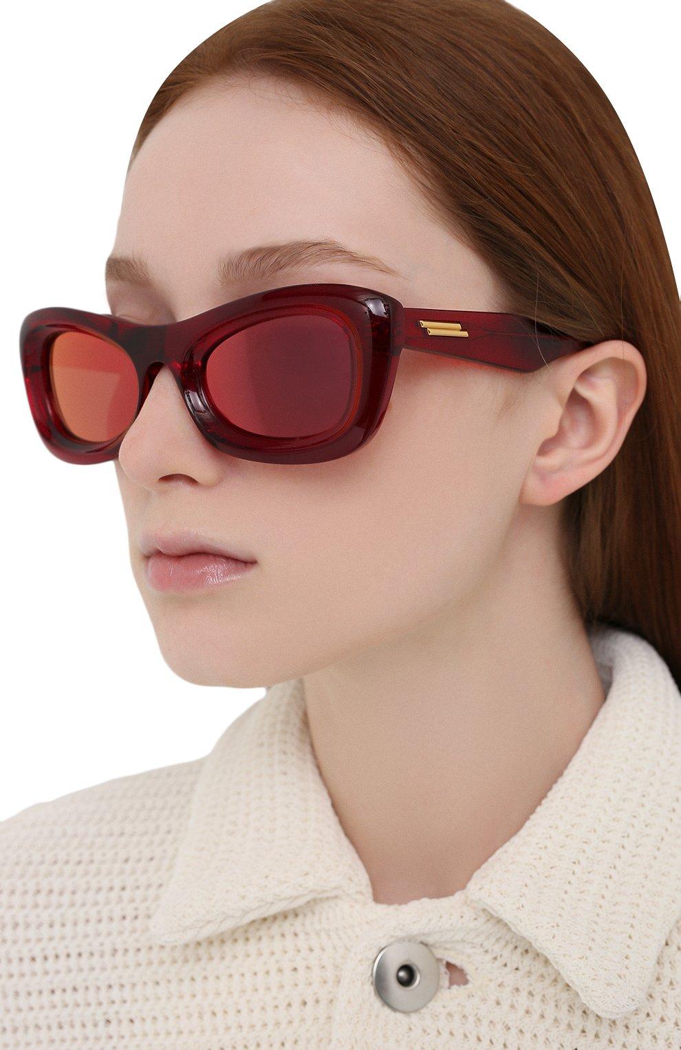 Женские солнцезащитные очки BOTTEGA VENETA красного цвета, арт. BV1088S | Фото 2