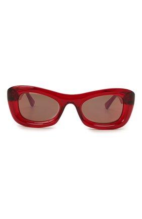 Женские солнцезащитные очки BOTTEGA VENETA красного цвета, арт. BV1088S | Фото 3