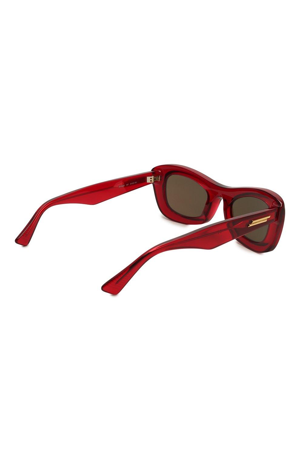 Женские солнцезащитные очки BOTTEGA VENETA красного цвета, арт. BV1088S | Фото 4