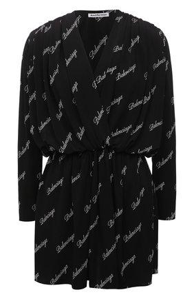 Женское платье из вискозы BALENCIAGA черно-белого цвета, арт. 622268/TJLY3 | Фото 1