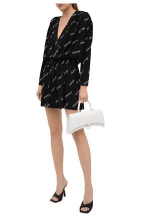 Женское платье из вискозы BALENCIAGA черно-белого цвета, арт. 622268/TJLY3 | Фото 2