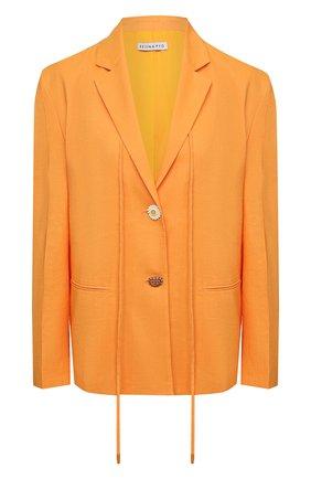 Женский жакет REJINA PYO оранжевого цвета, арт. B109/VISC0SE BLEND | Фото 1