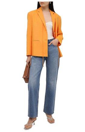 Женский жакет REJINA PYO оранжевого цвета, арт. B109/VISC0SE BLEND | Фото 2