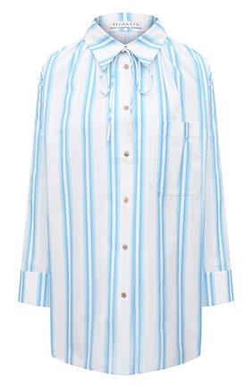 Женская хлопковая рубашка REJINA PYO светло-голубого цвета, арт. C322/0RGANIC C0TT0N | Фото 1