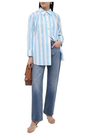 Женская хлопковая рубашка REJINA PYO светло-голубого цвета, арт. C322/0RGANIC C0TT0N   Фото 2