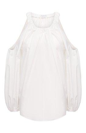 Женский хлопковый топ REJINA PYO белого цвета, арт. C329/0RGANIC C0TT0N | Фото 1