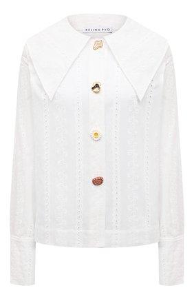 Женская хлопковая рубашка REJINA PYO белого цвета, арт. C333/C0TT0N BR0DERIE ANGLAISE | Фото 1