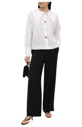 Женская хлопковая рубашка REJINA PYO белого цвета, арт. C333/C0TT0N BR0DERIE ANGLAISE | Фото 2