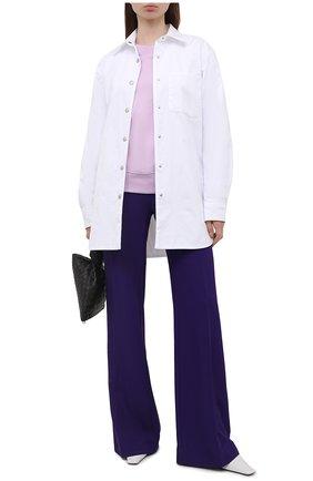 Женский хлопковый свитшот DRIES VAN NOTEN сиреневого цвета, арт. 211-11173-2629 | Фото 2