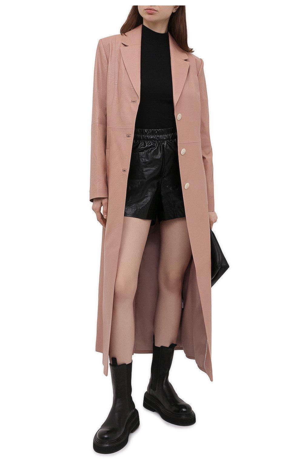 Женские хлопковые шорты DRIES VAN NOTEN черного цвета, арт. 211-10953-2326 | Фото 2