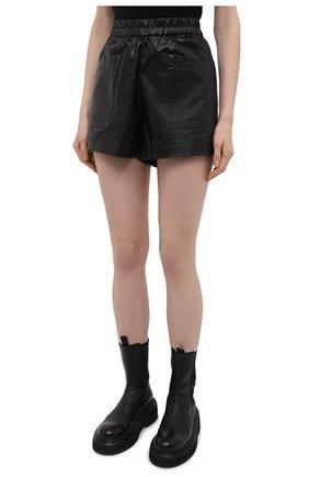Женские хлопковые шорты DRIES VAN NOTEN черного цвета, арт. 211-10953-2326 | Фото 3