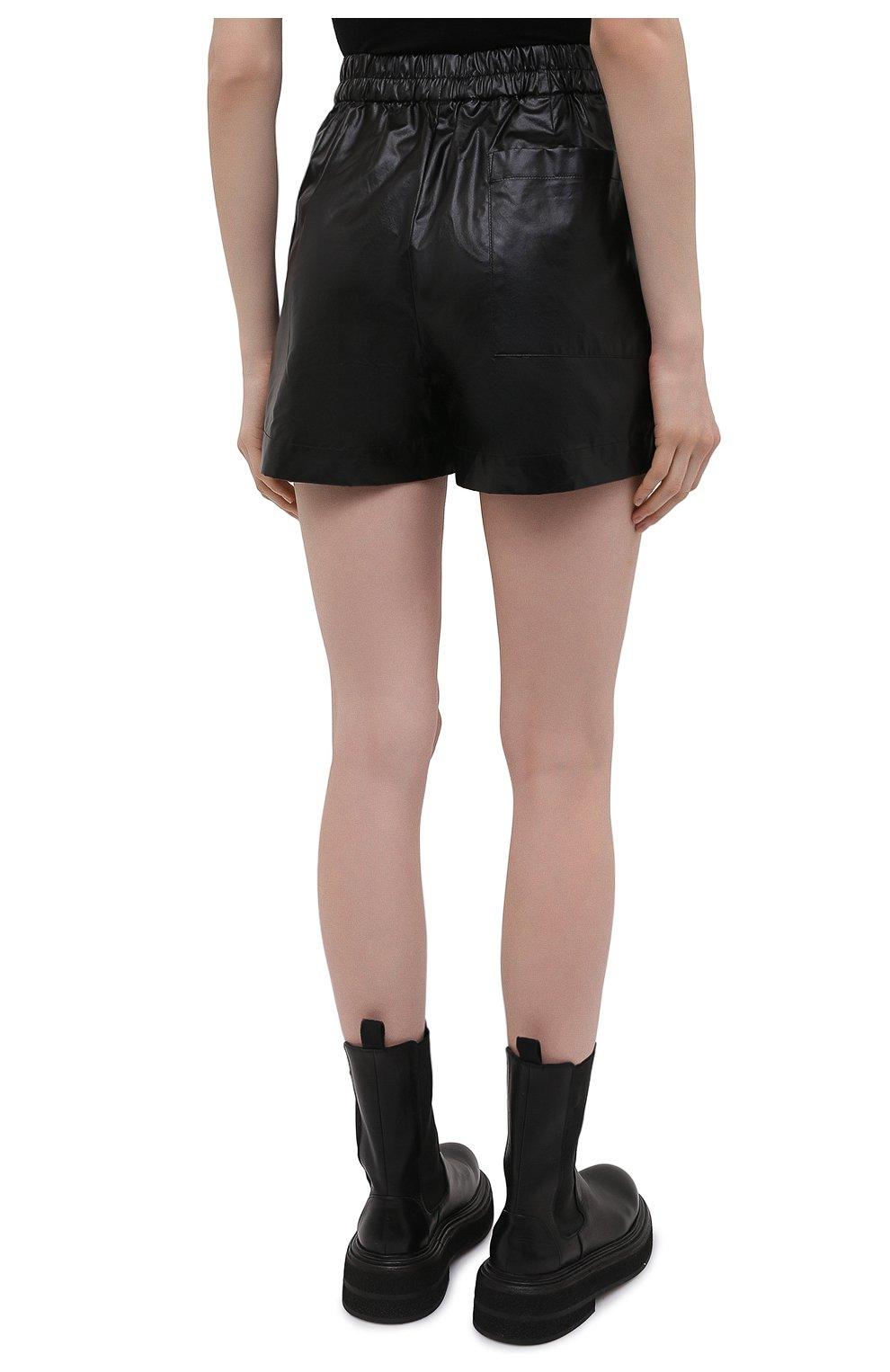 Женские хлопковые шорты DRIES VAN NOTEN черного цвета, арт. 211-10953-2326 | Фото 4