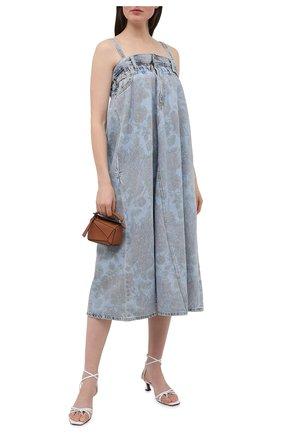 Женское джинсовое платье ganni x levi's GANNI голубого цвета, арт. F6091 | Фото 2
