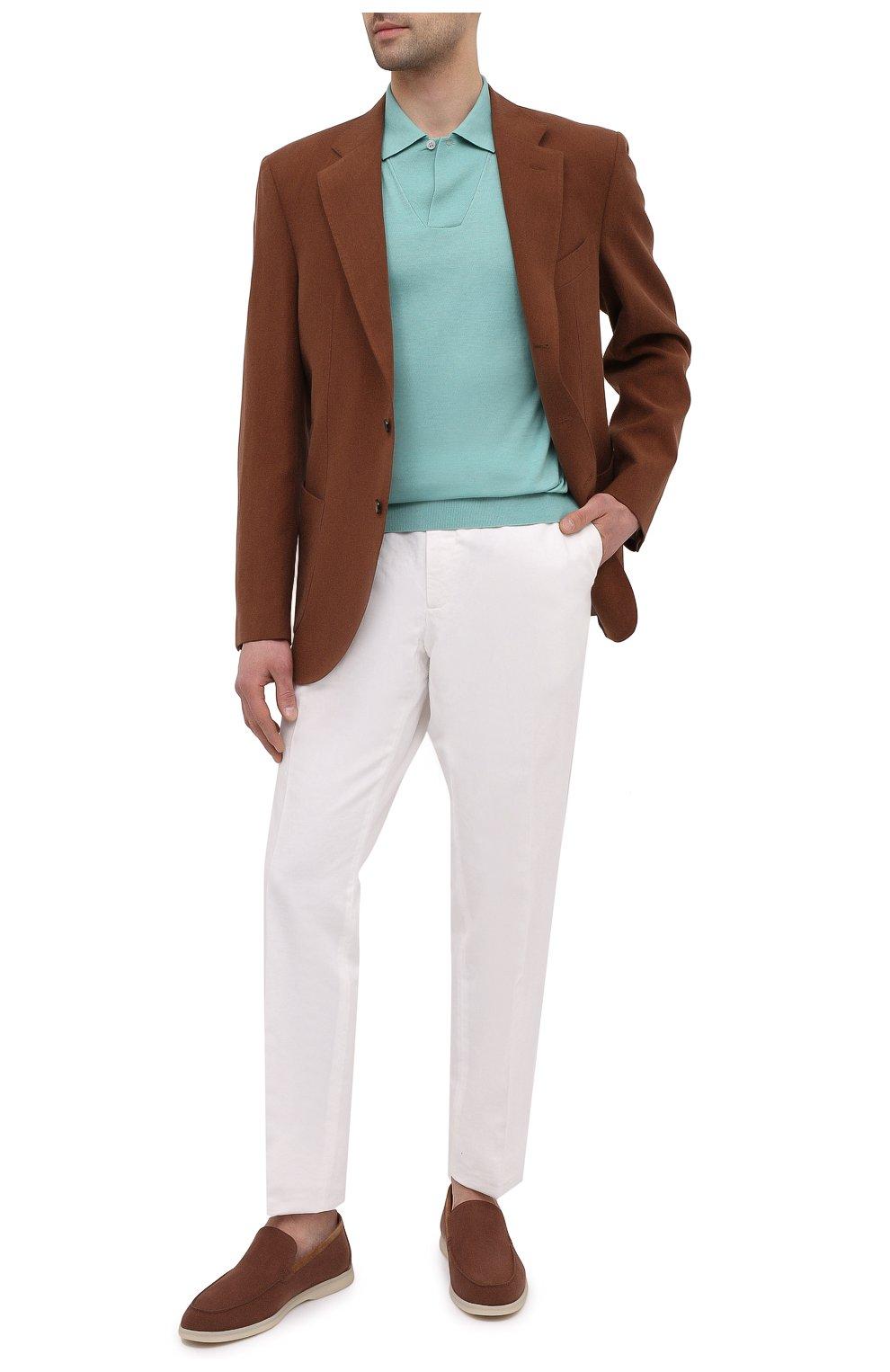 Мужские текстильные лоферы summer walk LORO PIANA коричневого цвета, арт. FAL6177 | Фото 2