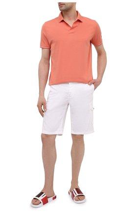 Мужские кожаные шлепанцы DOLCE & GABBANA разноцветного цвета, арт. CS1646/AX957 | Фото 2