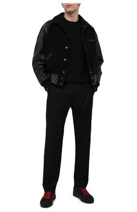 Мужские комбинированные кеды portofino DOLCE & GABBANA черного цвета, арт. CS1865/A0217 | Фото 2