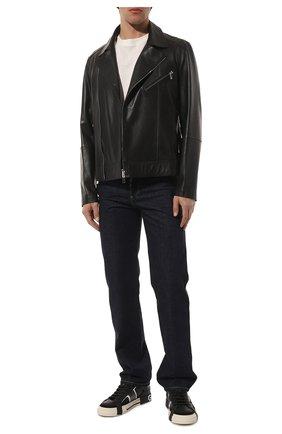Мужские кожаные кеды custom 2.zero DOLCE & GABBANA черного цвета, арт. CS1863/A0223 | Фото 2
