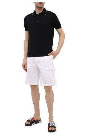 Мужские кожаные шлепанцы DOLCE & GABBANA черного цвета, арт. CS1646/AX957 | Фото 2
