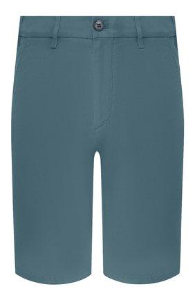 Мужские хлопковые шорты LORO PIANA бирюзового цвета, арт. FAE8348 | Фото 1