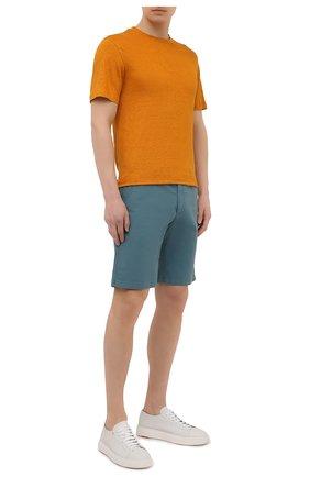 Мужские хлопковые шорты LORO PIANA бирюзового цвета, арт. FAE8348 | Фото 2