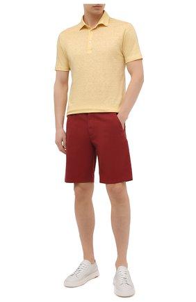 Мужские хлопковые шорты LORO PIANA красного цвета, арт. FAE8348 | Фото 2