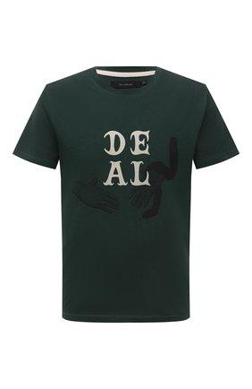 Мужская хлопковая футболка TEE LIBRARY зеленого цвета, арт. TSK-TS-17 | Фото 1