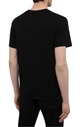 Мужская хлопковая футболка TEE LIBRARY черного цвета, арт. TSK-TS-13   Фото 4 (Рукава: Короткие; Длина (для топов): Стандартные; Стили: Гранж; Принт: С принтом; Материал внешний: Хлопок)