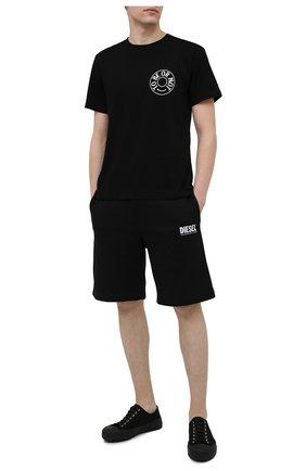 Мужская хлопковая футболка TEE LIBRARY черного цвета, арт. TSK-TS-09 | Фото 2
