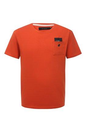 Мужская хлопковая футболка TEE LIBRARY оранжевого цвета, арт. TSK-TS-06 | Фото 1